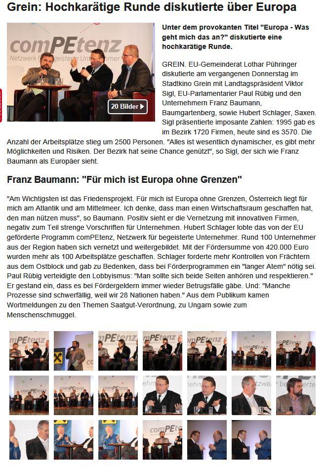 Europadiskussion Rundschau Woche 8 2014